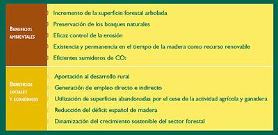Beneficios medioambientales.